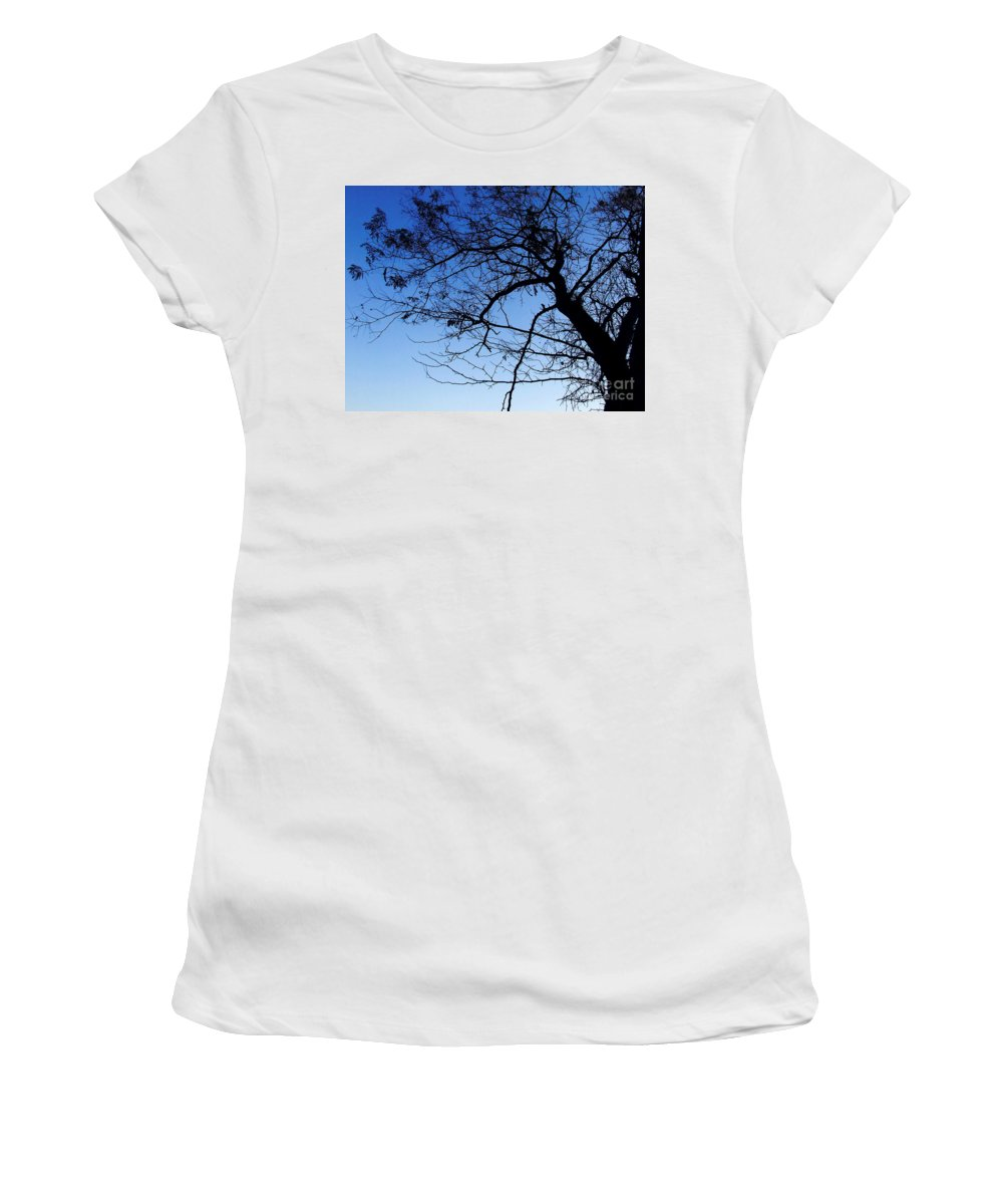 Blue Women's T-Shirt (Athletic Fit) featuring the photograph Blue Sky by Andrea Anderegg
