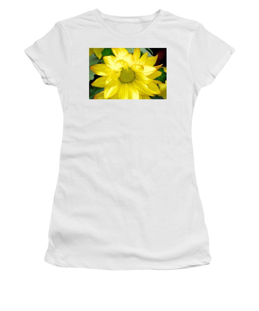 Blushing Sunshine Women's T-Shirt (Athletic Fit) featuring the photograph Blushing Sunshine by Maria Urso