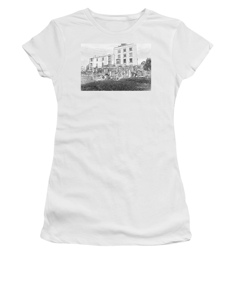 Tenby Women's T-Shirt (Athletic Fit) featuring the photograph Boat Trips by Steve Purnell