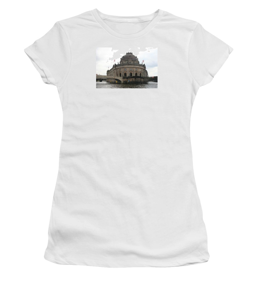 Museum Women's T-Shirt (Athletic Fit) featuring the photograph Bode Museum - Berlin - Germany by Christiane Schulze Art And Photography