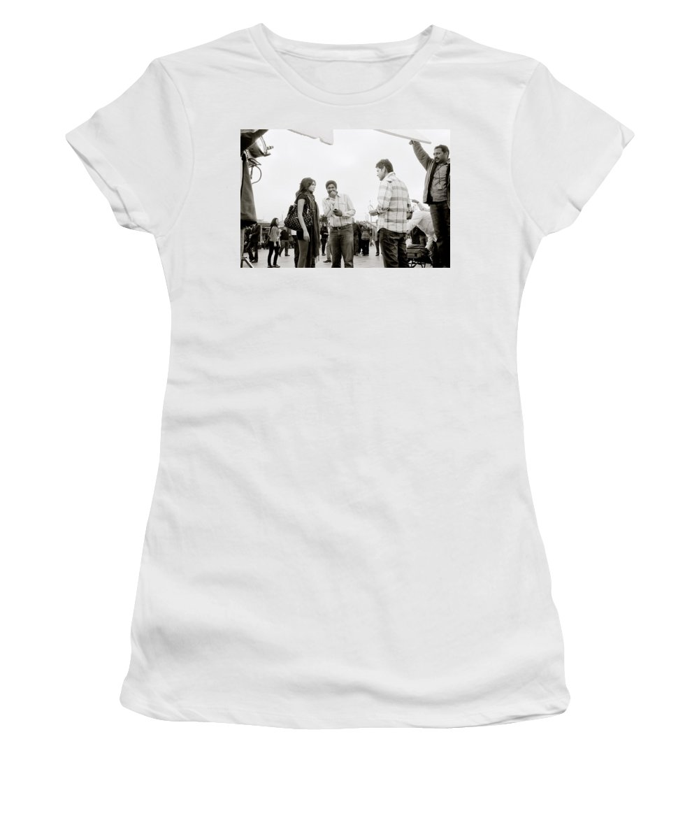 Bollywood Women's T-Shirt (Athletic Fit) featuring the photograph Bollywood by Shaun Higson