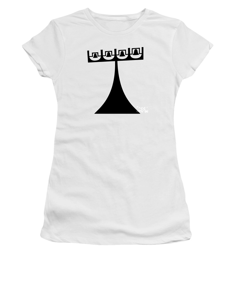 Expressionistic Women's T-Shirt (Athletic Fit) featuring the digital art Brasilia Landmark by Michal Boubin