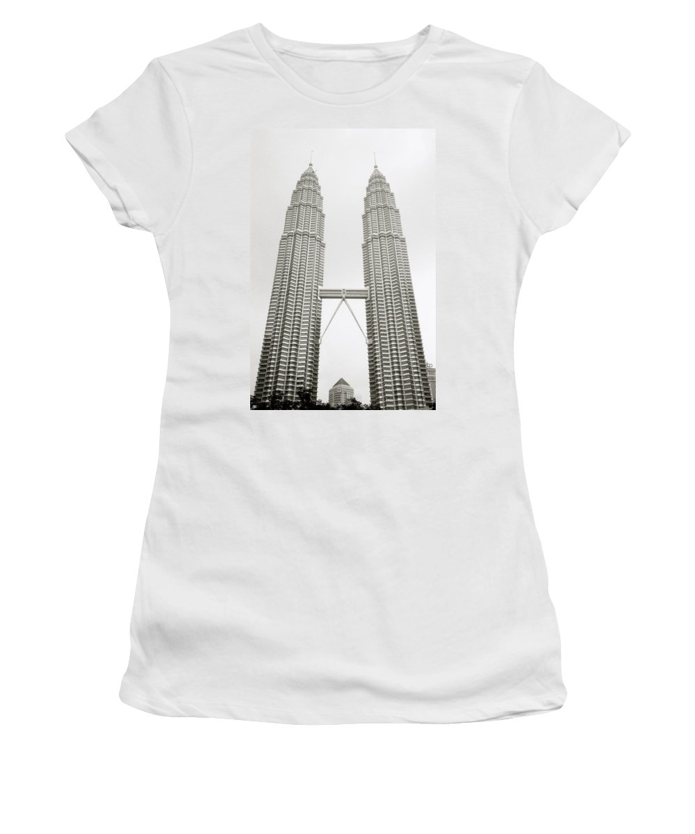 Petronas Towers Women's T-Shirt featuring the photograph Brave New World by Shaun Higson