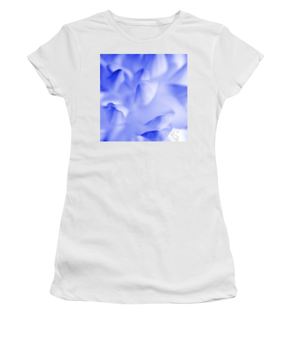 Nature Women's T-Shirt (Athletic Fit) featuring the photograph Bring Me Back To Life - Flower Petals Macro by Brian Raggatt