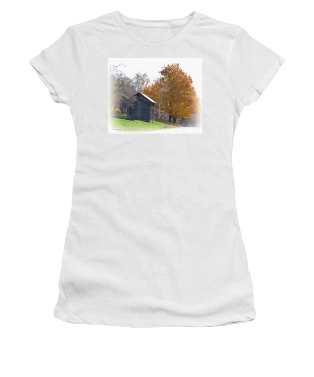Bristol Charm Women's T-Shirt (Athletic Fit) featuring the painting Bristol Charm by Michael DArienzo