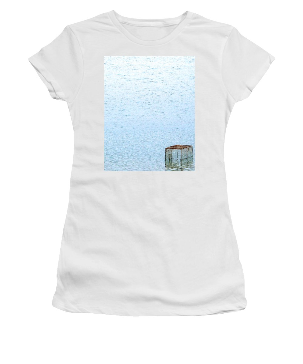 Cage Women's T-Shirt featuring the photograph Caged Expanse by Kaleidoscopik Photography