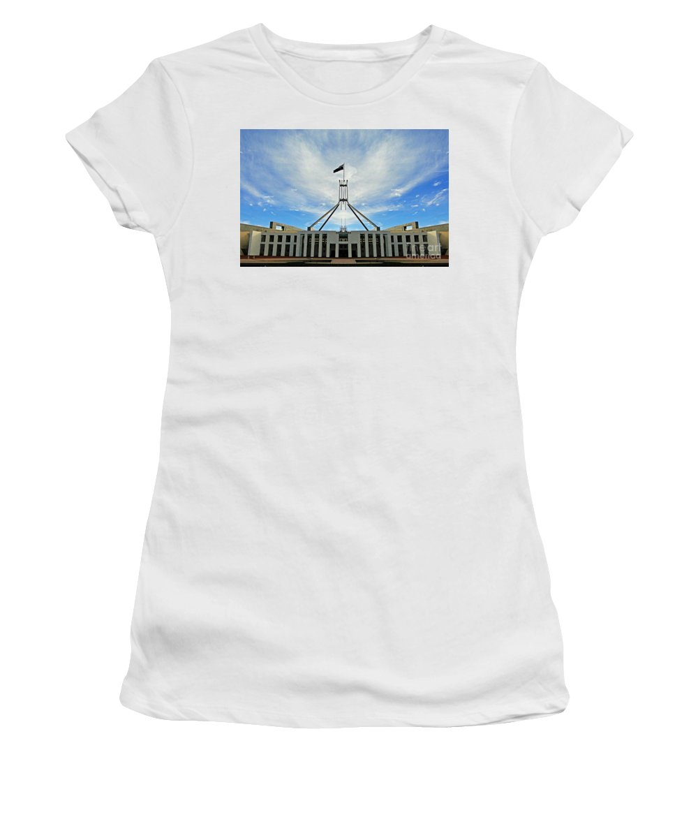 Canberra Women's T-Shirt (Athletic Fit) featuring the photograph Canberra 11 by Ben Yassa