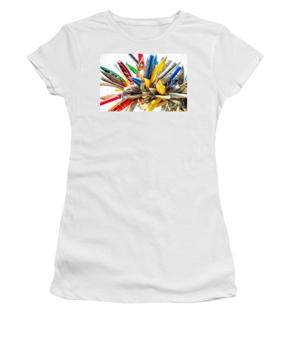Sculpture Women's T-Shirt featuring the photograph Canoe Art II by Doug Sturgess