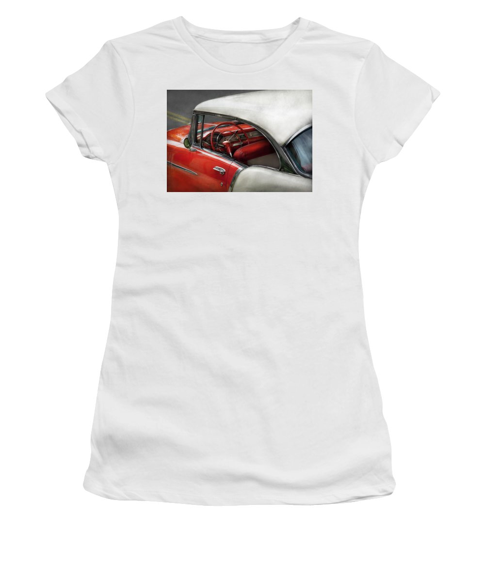 Car Women's T-Shirt featuring the photograph Car - Classic 50's by Mike Savad