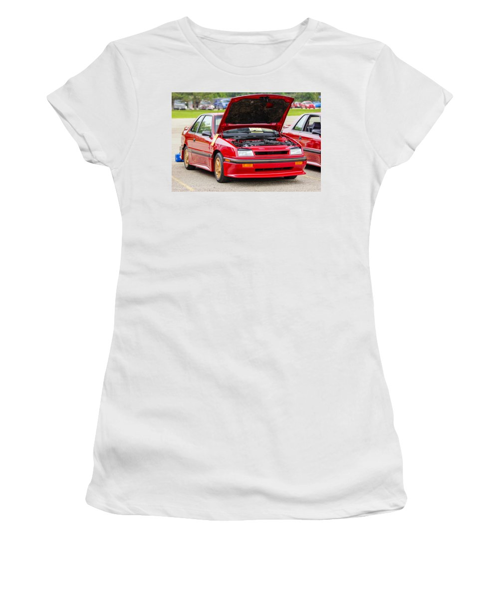 Dodge Shelby Csx Women's T-Shirt (Athletic Fit) featuring the photograph Car Show 034 by Josh Bryant