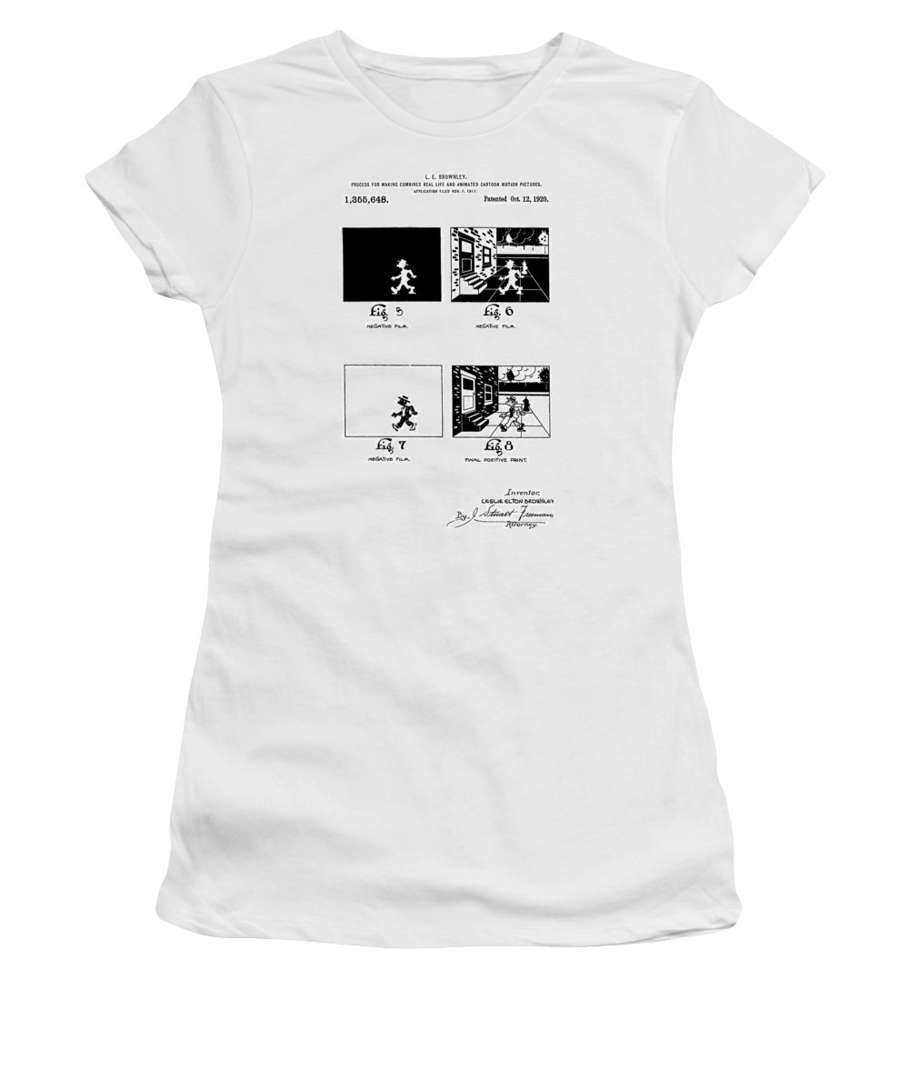 Animation Patent Women's T-Shirt featuring the digital art Cartoons by Dan Sproul