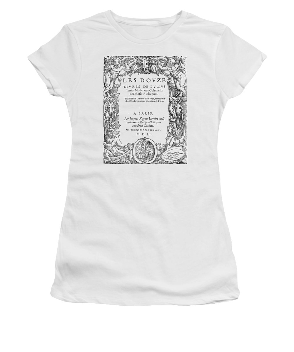 1551 Women's T-Shirt (Athletic Fit) featuring the painting Cartouche, 1551 by Granger