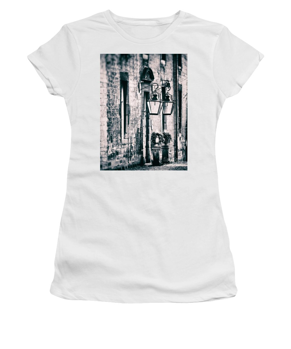 Neercanne Castle Lamps Women's T-Shirt featuring the photograph Castle Lamps by Brothers Beerens