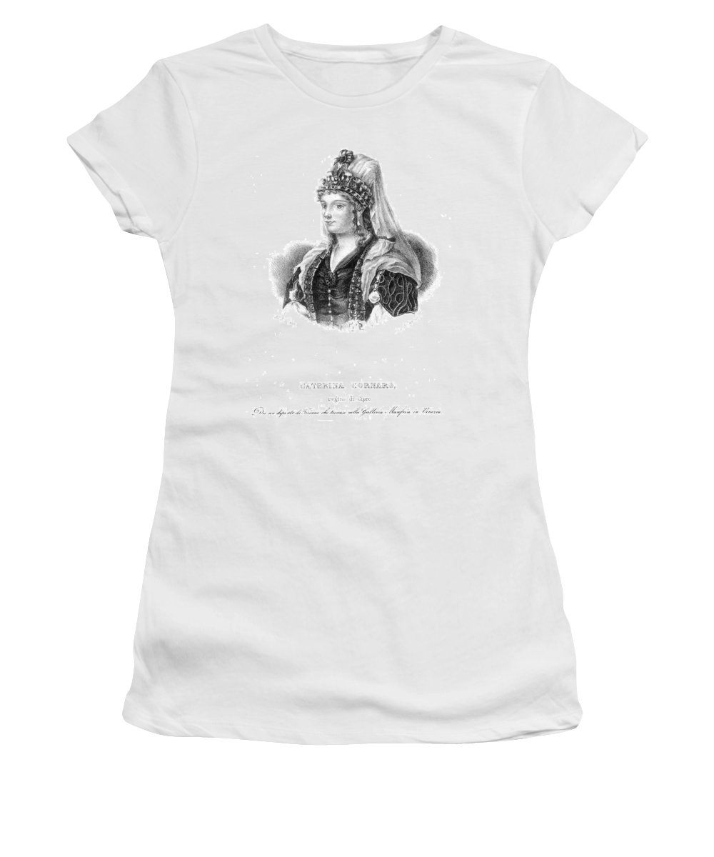 15th Century Women's T-Shirt (Athletic Fit) featuring the painting Caterina Cornaro (1454-1510) by Granger