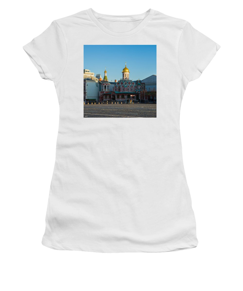 Architecture Women's T-Shirt (Athletic Fit) featuring the photograph Cathedral Of Our Lady Of Kazan - Square by Alexander Senin