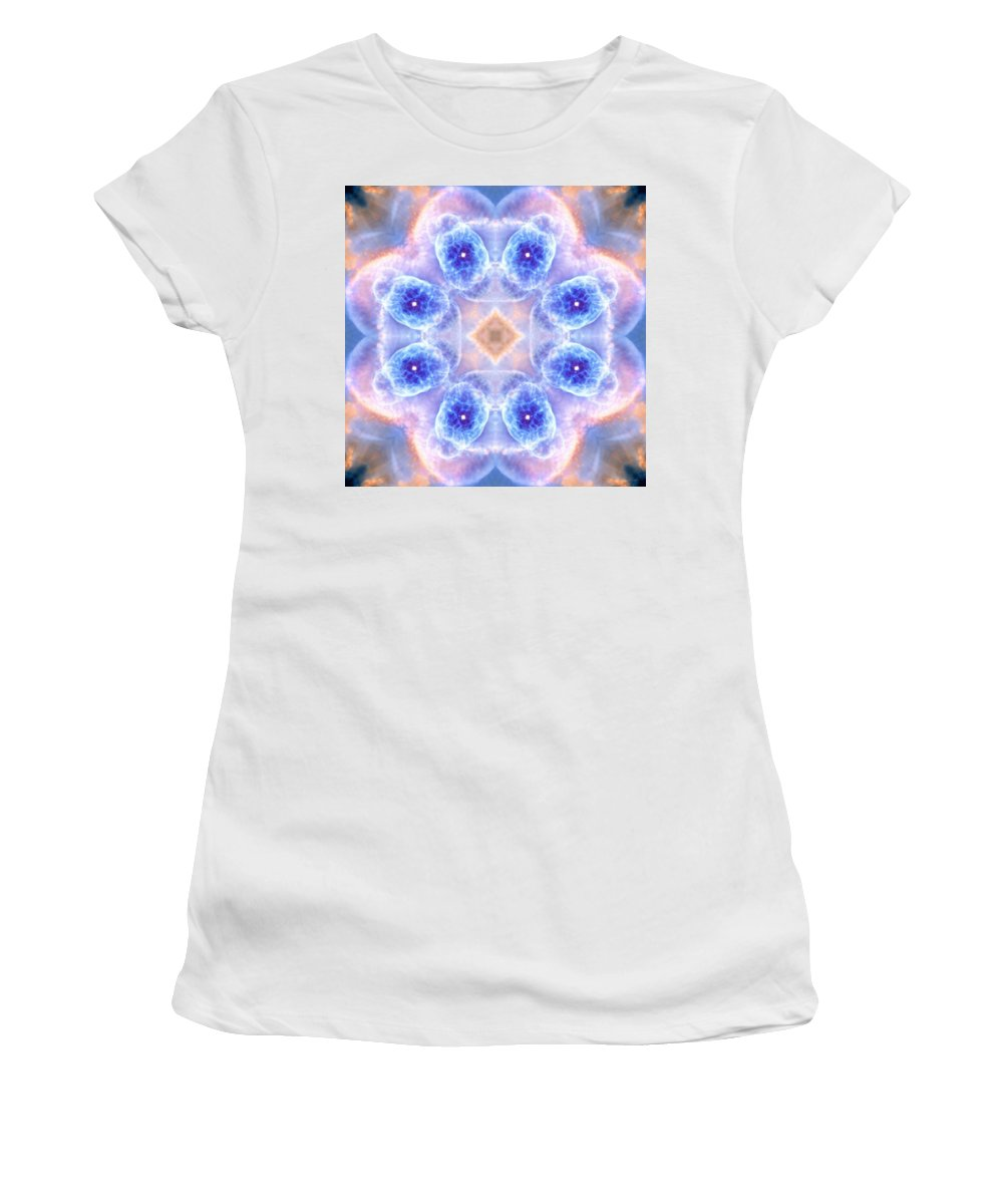 Cats Eye Nebula V Women's T-Shirt (Athletic Fit) featuring the photograph Cats Eye Nebula V by Derek Gedney