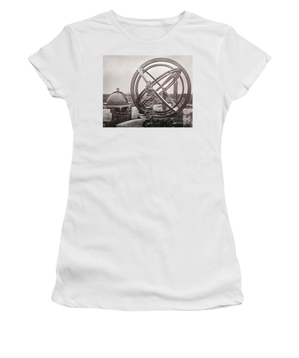 Historic Women's T-Shirt (Athletic Fit) featuring the photograph Celestial Globe And Sphere Beijing by Wellcome Images