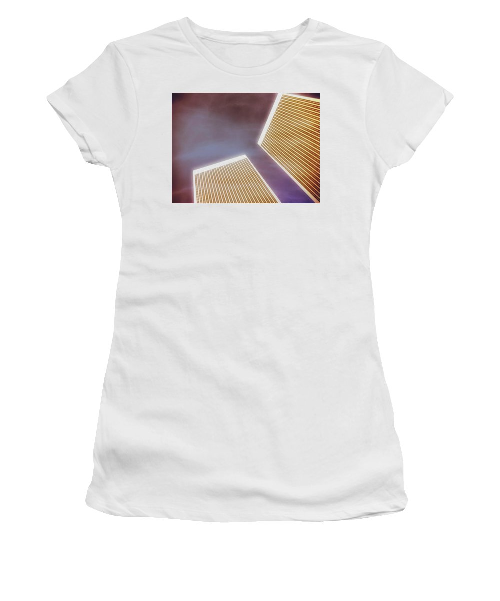 Los Angeles Women's T-Shirt featuring the photograph Century City Dreams by Mark David Gerson