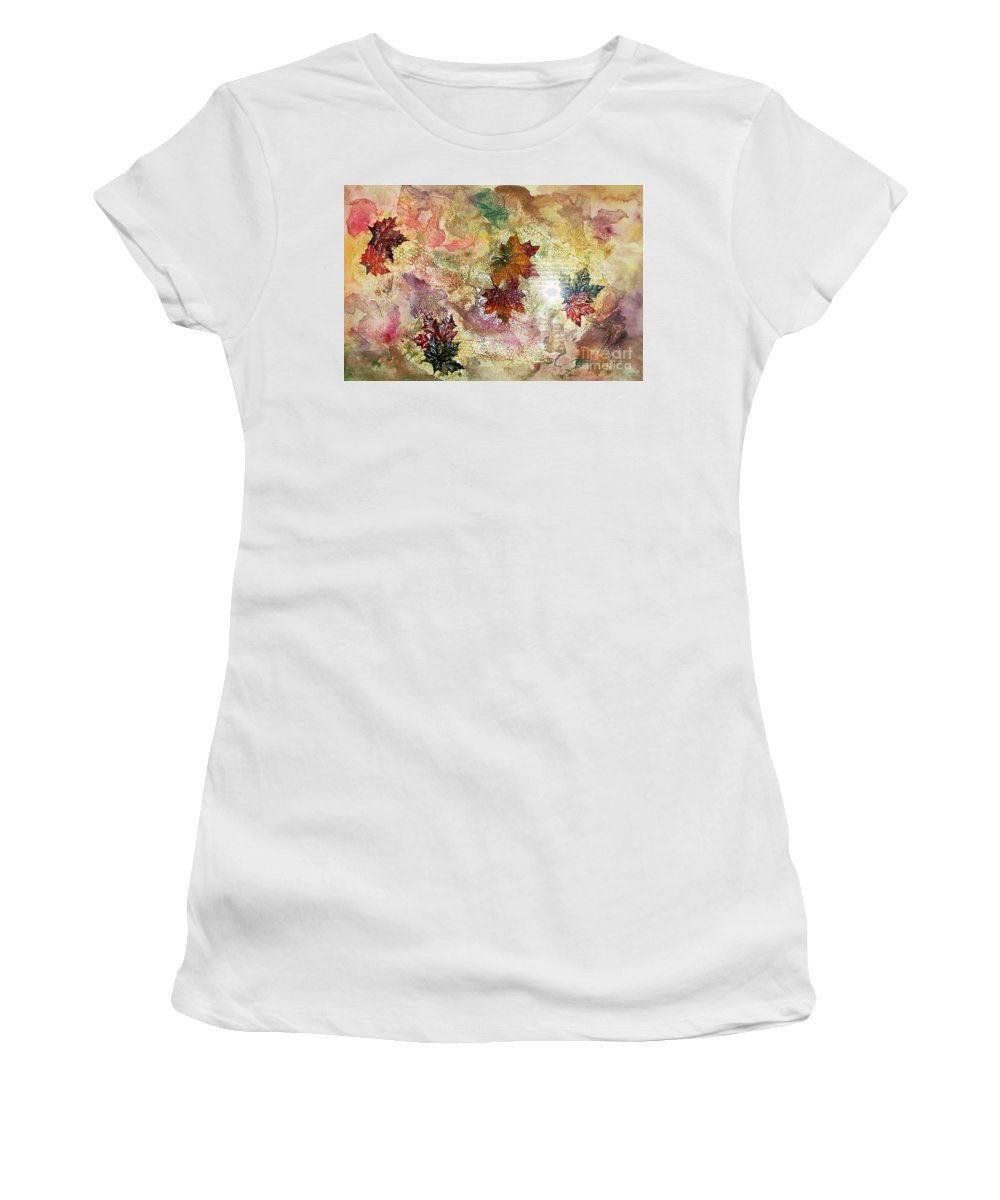 Water Color Abstract Women's T-Shirt (Athletic Fit) featuring the mixed media Change In You II by Yael VanGruber