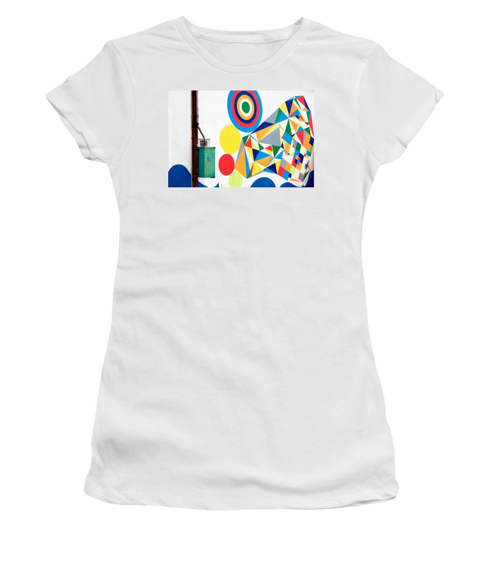 Abstract Women's T-Shirt featuring the photograph Chaordicolors Limited Edition 1 Of 1 by Ordi Calder