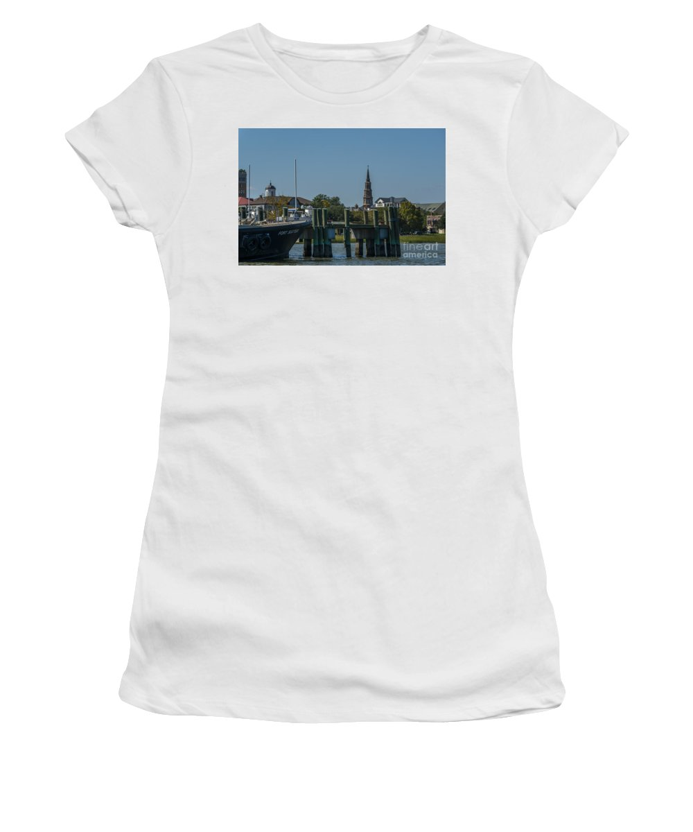 Charleston Women's T-Shirt (Athletic Fit) featuring the photograph Charleston Charm by Dale Powell