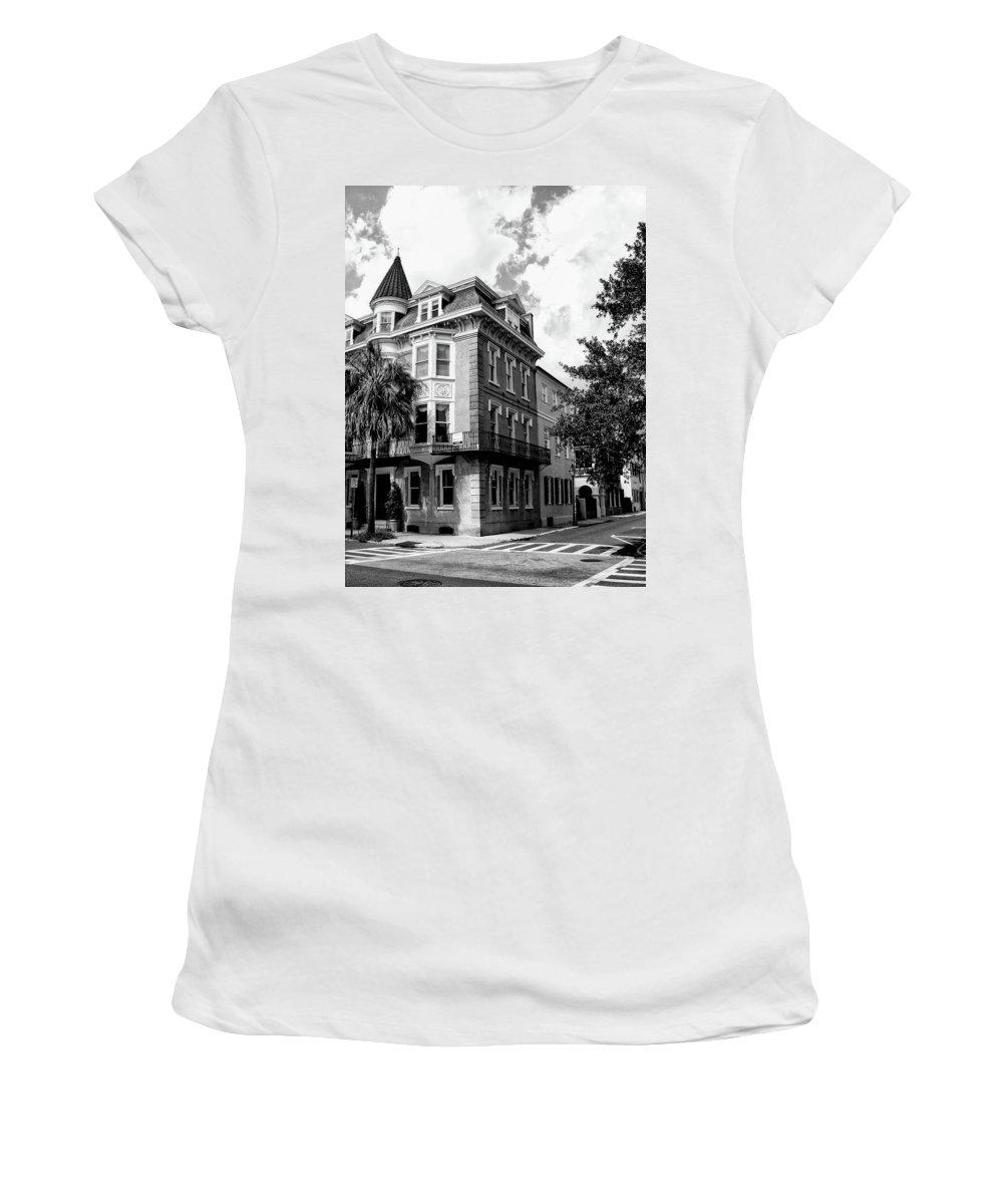 Charleston Women's T-Shirt featuring the photograph Charleston Corner Charleston Sc by William Dey