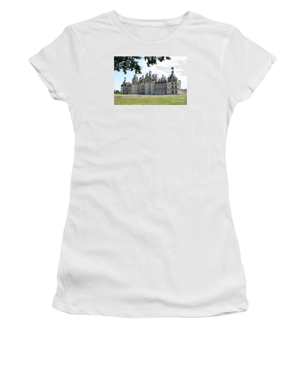 Palace Women's T-Shirt (Athletic Fit) featuring the photograph Chateau Chambord - France by Christiane Schulze Art And Photography