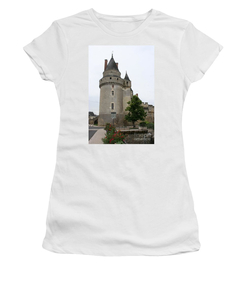 Castle Women's T-Shirt (Athletic Fit) featuring the photograph Chateau De Langeais Tower by Christiane Schulze Art And Photography