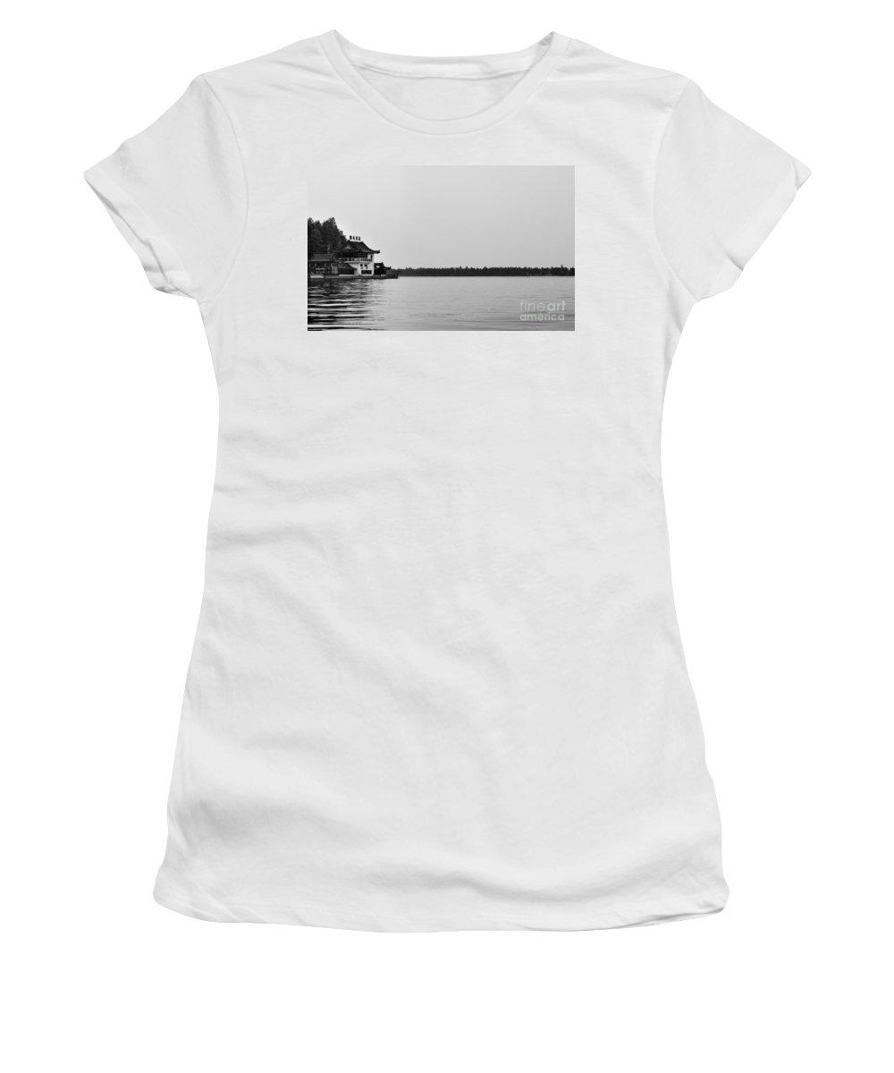 China Women's T-Shirt featuring the photograph Chinese Lake House by Matt Malloy