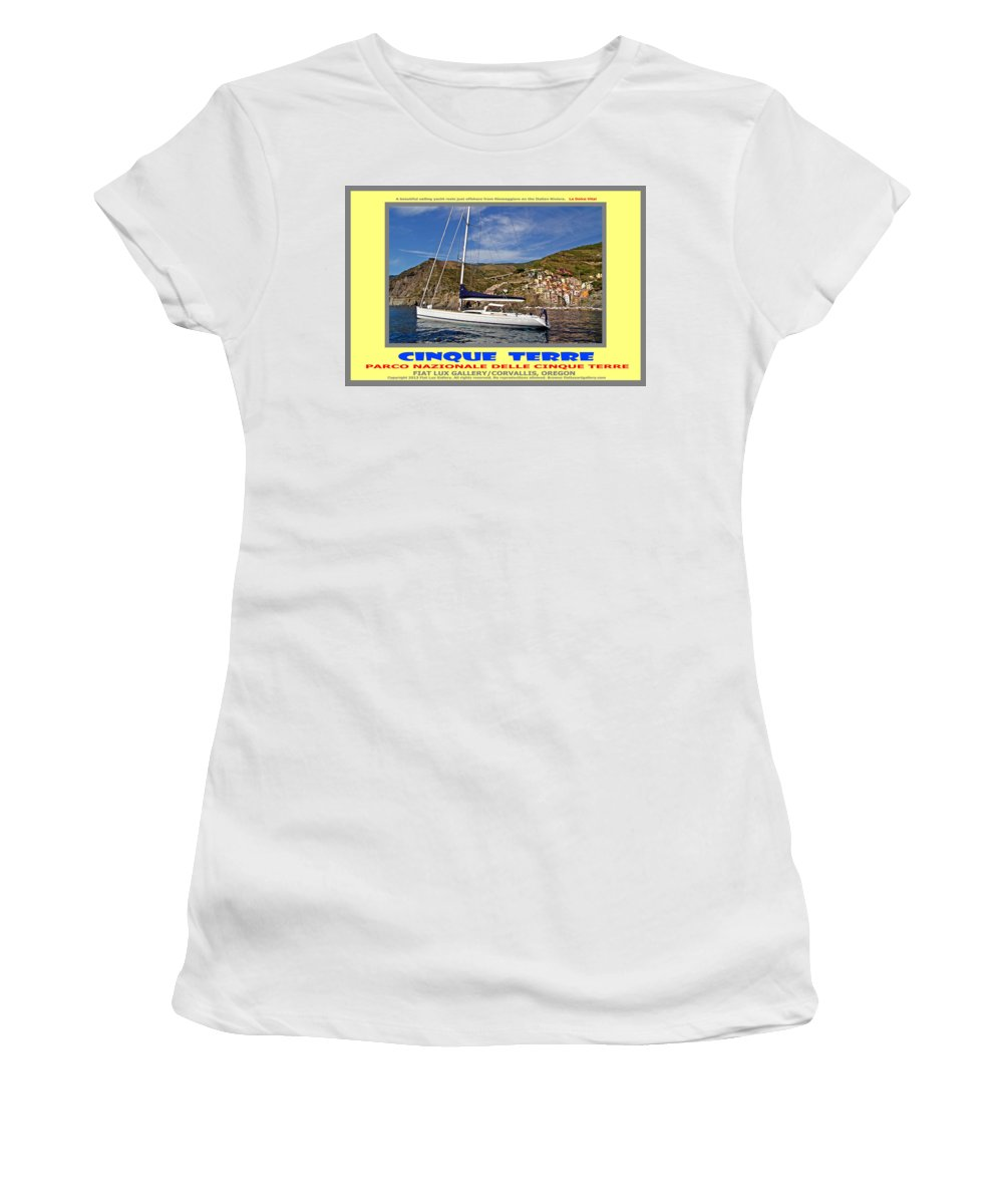 Cinque Terre Women's T-Shirt featuring the photograph Cinque Terre II by Michael Moore