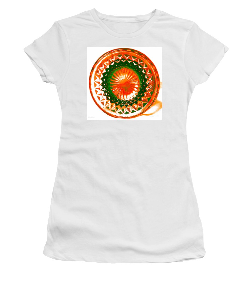 Abstract Women's T-Shirt featuring the photograph Circle Orange by Anita Lewis