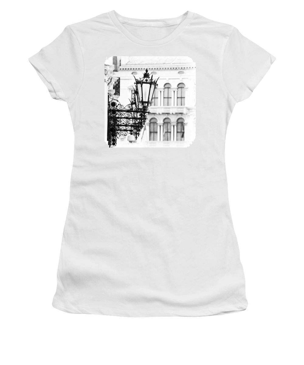 Venice Women's T-Shirt featuring the photograph City Lights In Venice by Delphimages Photo Creations