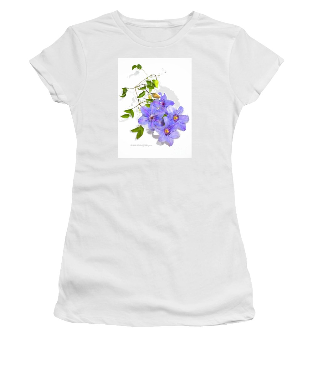 Clematis Women's T-Shirt (Athletic Fit) featuring the photograph Clematis by Richard J Thompson
