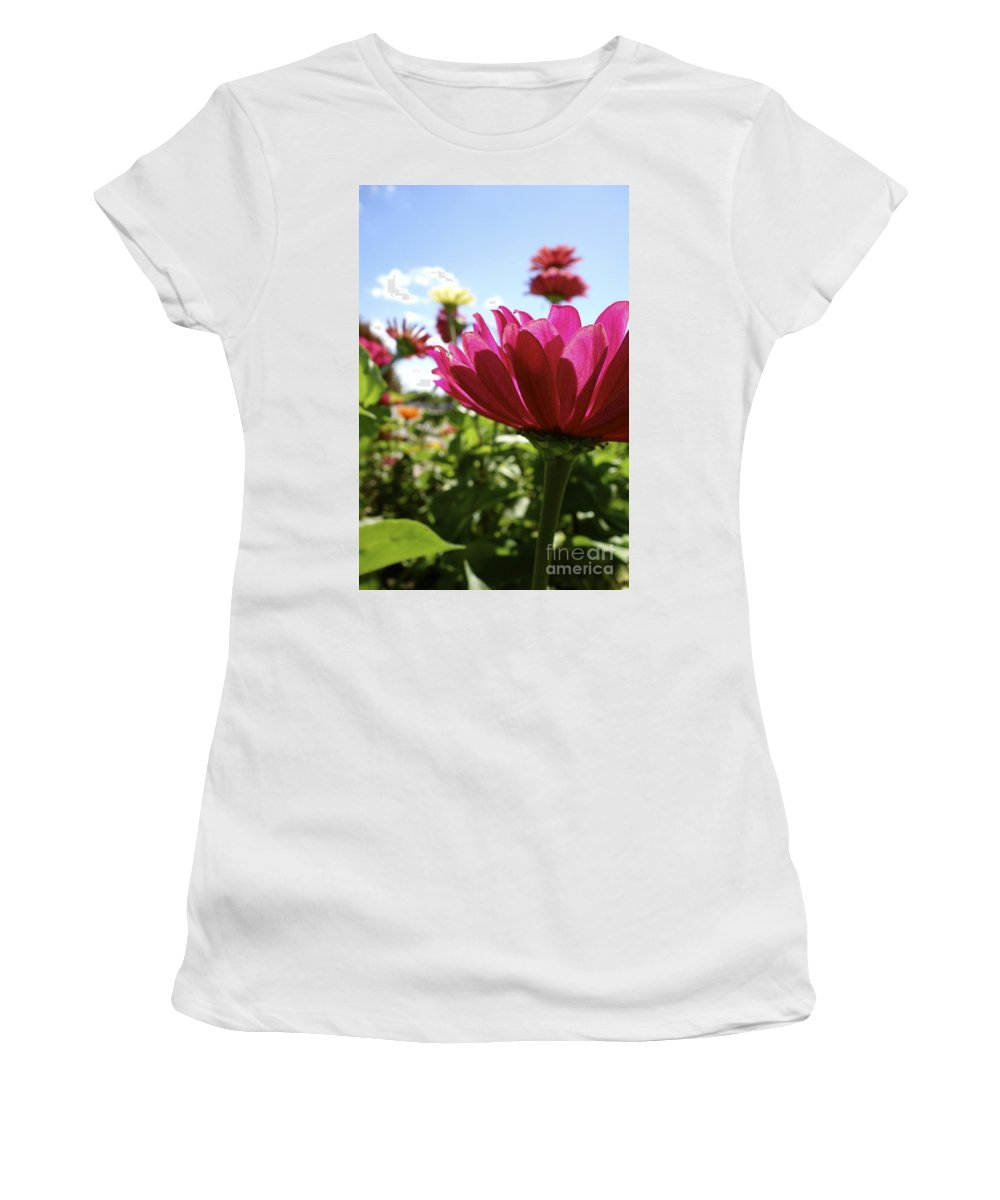 Flowers Women's T-Shirt featuring the photograph Close Among Them by Jacqueline Athmann