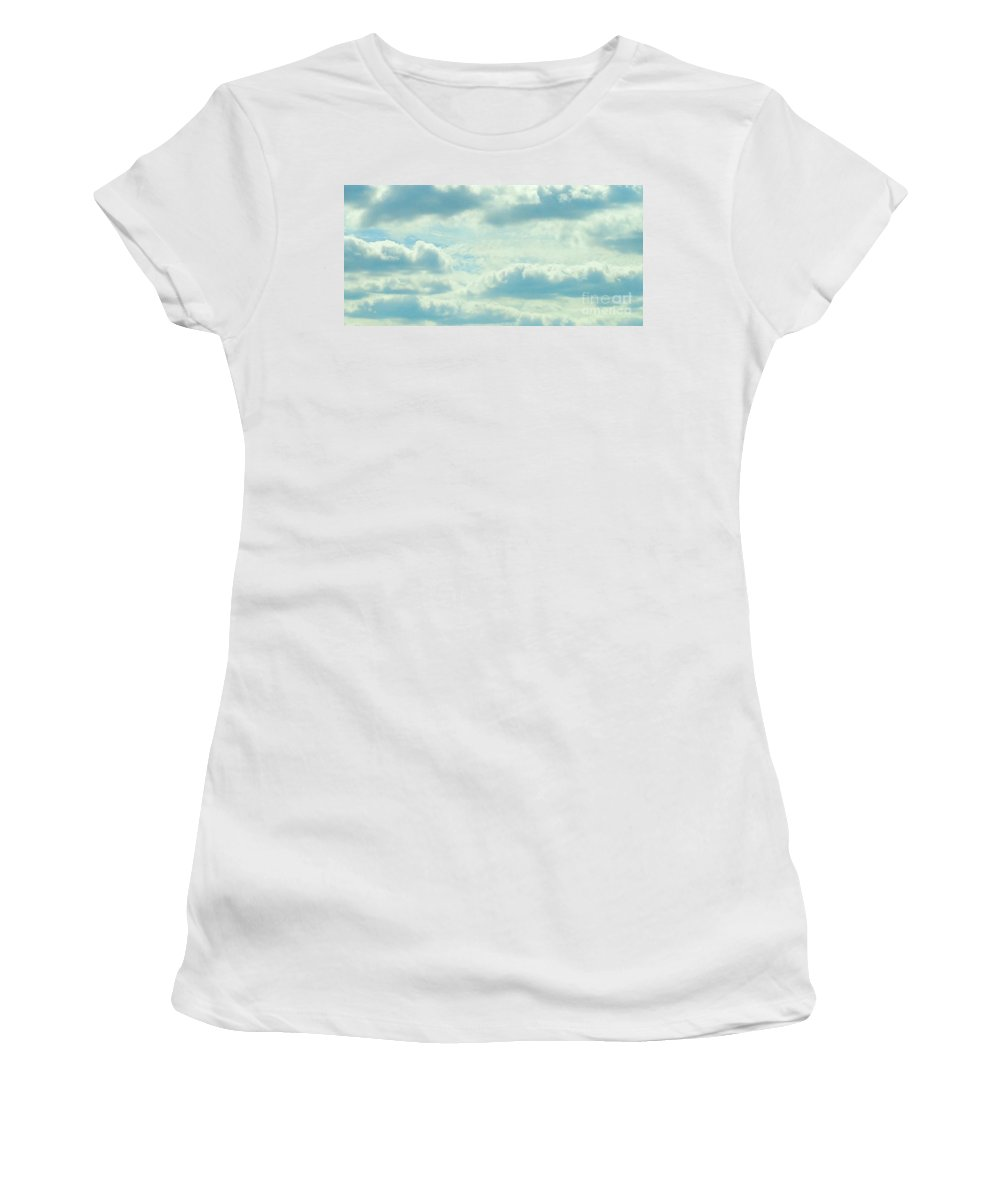 Blue Women's T-Shirt featuring the photograph Clouds by Jennifer E Doll