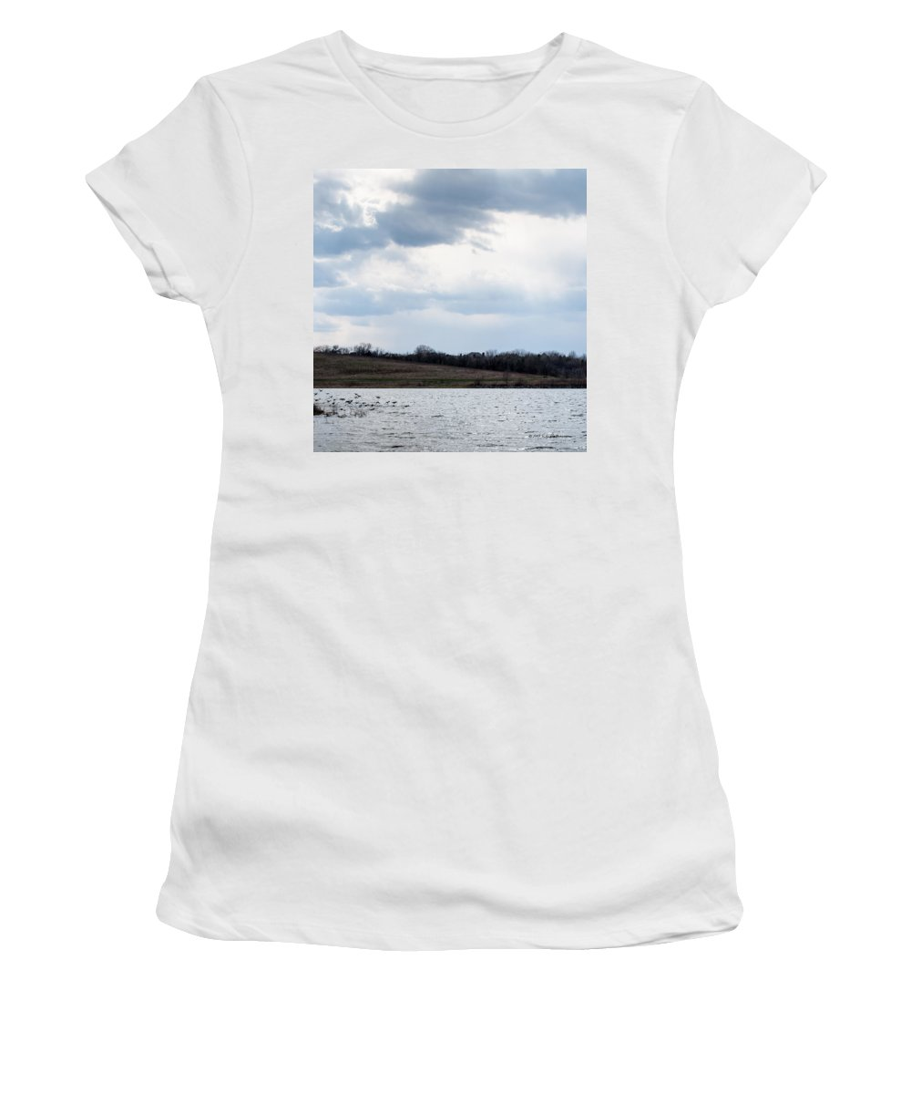 Spring Women's T-Shirt (Athletic Fit) featuring the photograph Cloudy Spring Day by Edward Peterson
