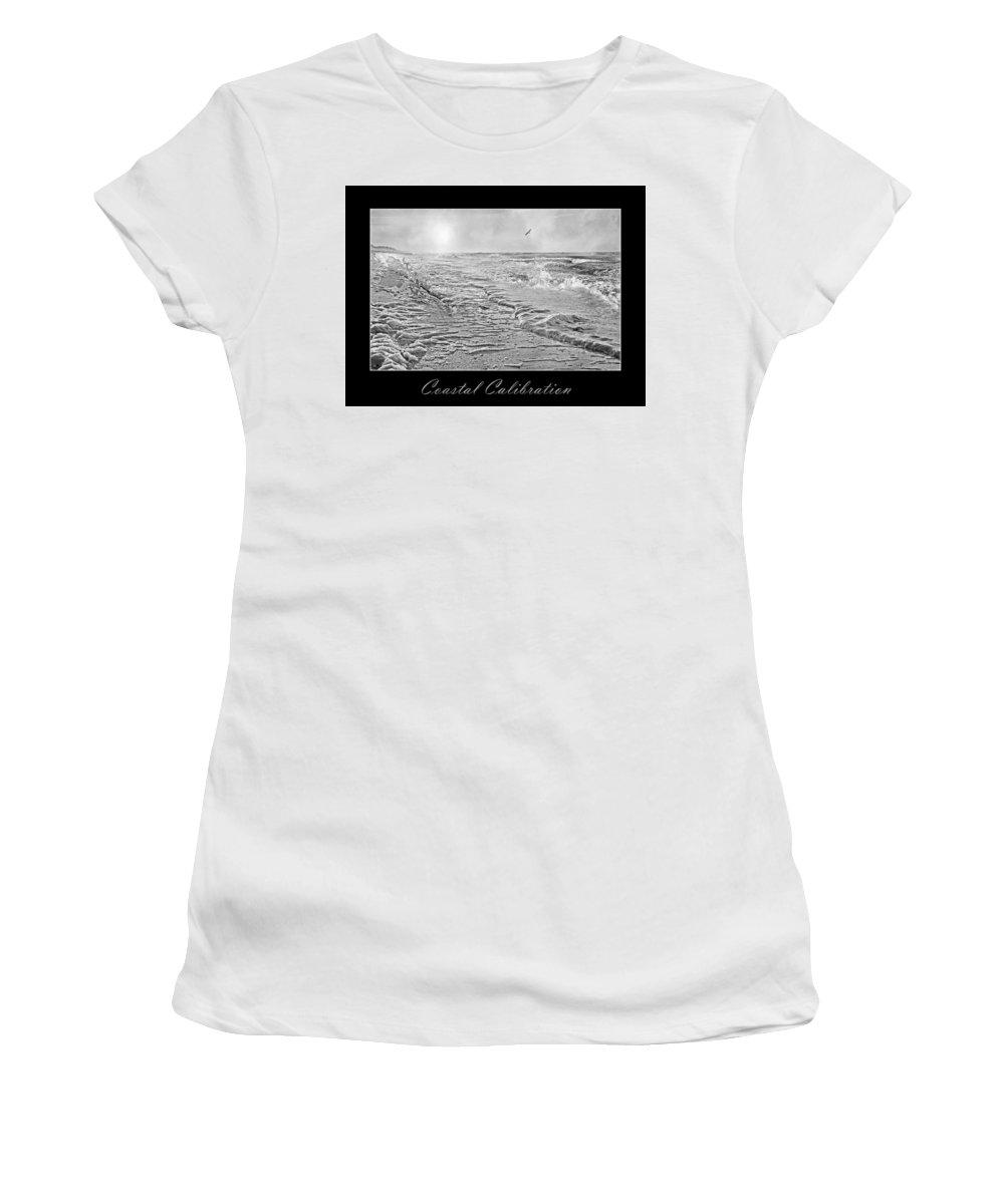 Shore Women's T-Shirt (Athletic Fit) featuring the digital art Coastal Calibration by Betsy Knapp