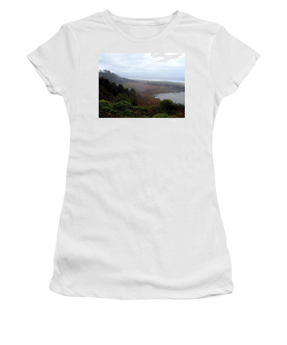 Coast Women's T-Shirt featuring the photograph Coastal Seascape by Deborah Crew-Johnson