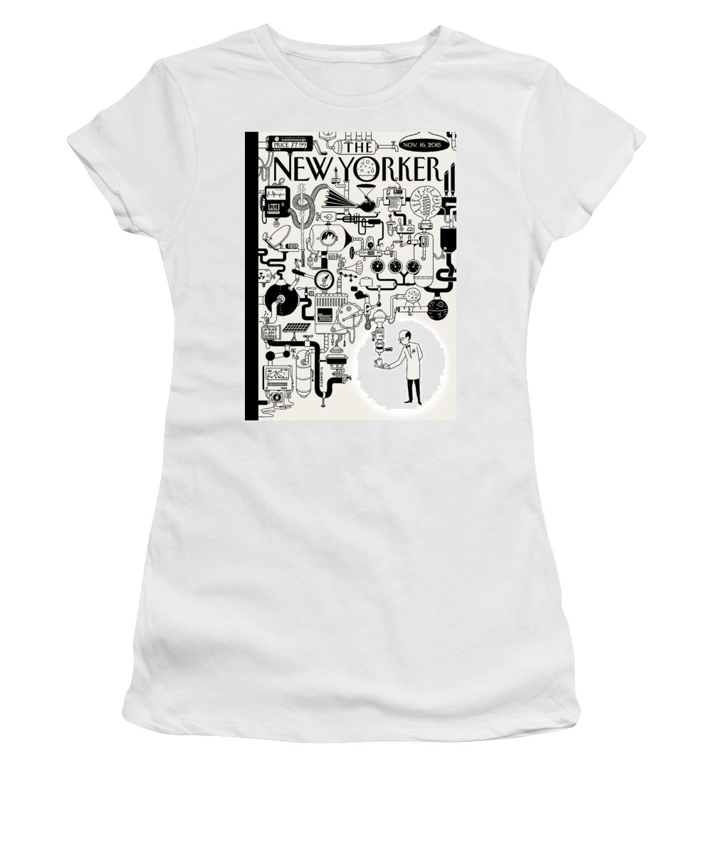 142340 Women's T-Shirt featuring the painting Coffee Break by Christoph Niemann