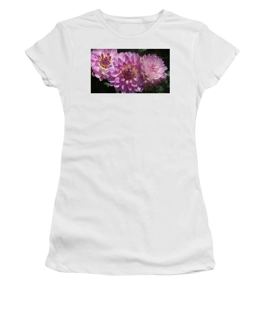 Purple Women's T-Shirt (Athletic Fit) featuring the photograph Color Explosion by Rob Luzier