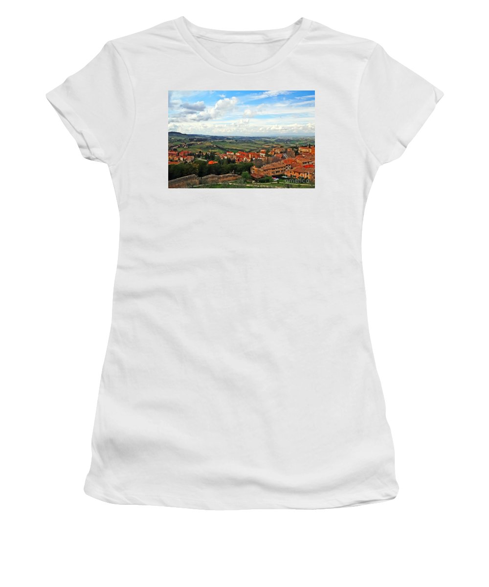 Travel Women's T-Shirt featuring the photograph Color Of Tuscany by Elvis Vaughn