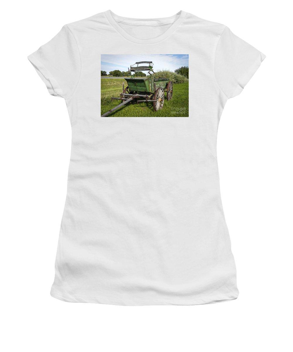 Wagon Women's T-Shirt featuring the photograph Colorado Western Transportation by Janice Pariza