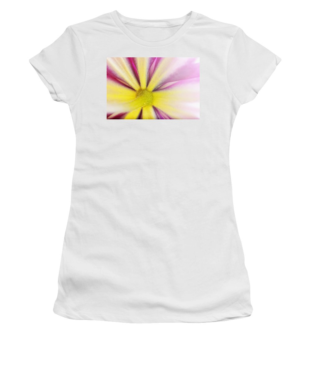 Background Women's T-Shirt (Athletic Fit) featuring the photograph Colorful Clematis by Jan Brons