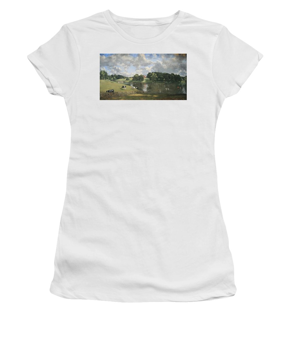 Wivenhoe Park Women's T-Shirt (Athletic Fit) featuring the photograph Constable's Wivenhoe Park In Essex by Cora Wandel