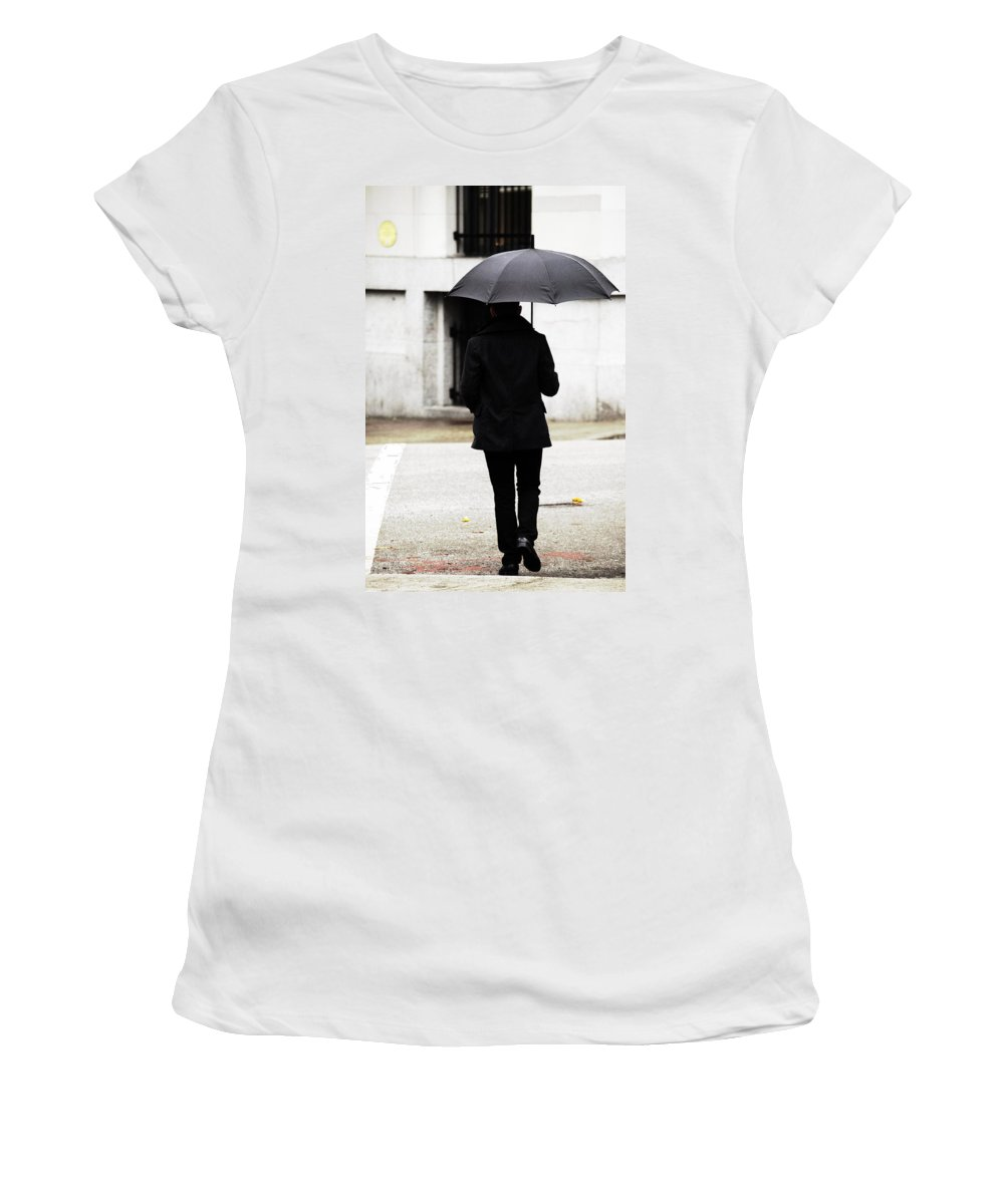 Street Photography Women's T-Shirt (Athletic Fit) featuring the photograph Converted Colleges by The Artist Project