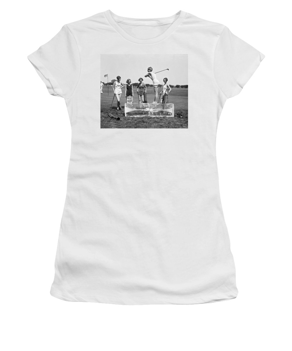 1920s Women's T-Shirt featuring the photograph Cool Tee Time by Underwood Archives