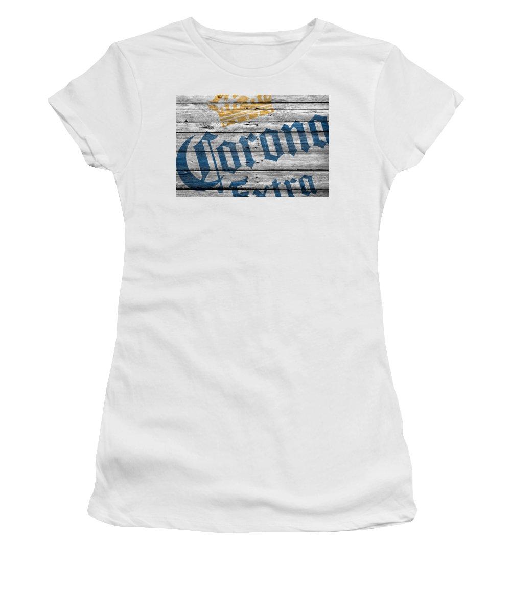 Corona Extra Women's T-Shirt (Athletic Fit) featuring the photograph Corona Extra by Joe Hamilton