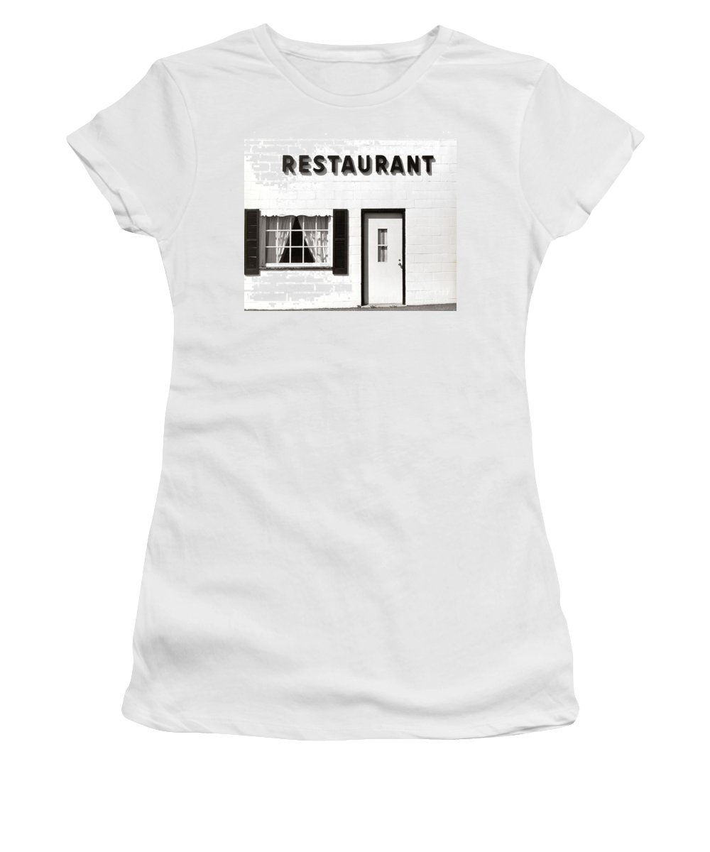 Restaurant Women's T-Shirt (Athletic Fit) featuring the photograph Country Restaurant by Thomas Marchessault