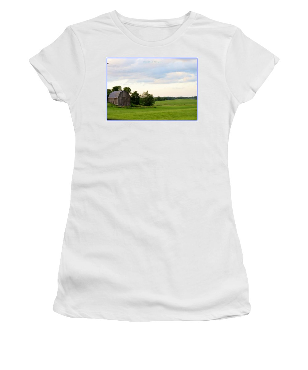 Countryside Charm Women's T-Shirt featuring the photograph Countryside Charm by Sonali Gangane