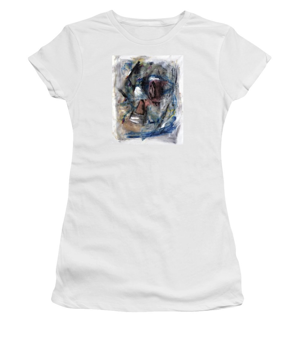 Abstract Art Women's T-Shirt (Athletic Fit) featuring the painting Courtship by Antonio Ortiz